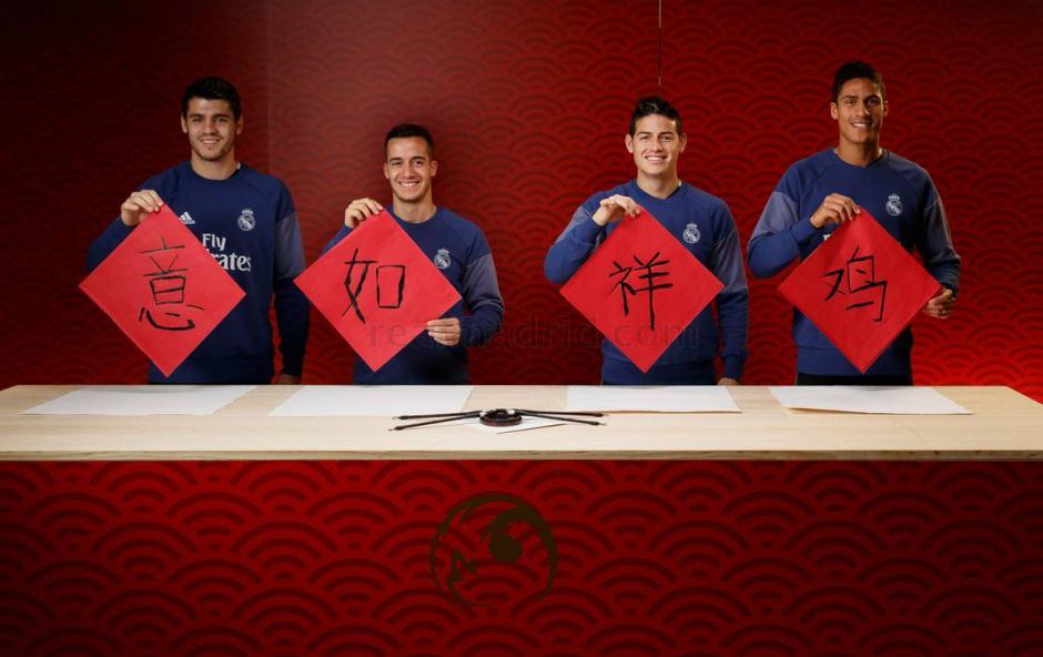 Jugadores de Real Madrid celebraron el Año Nuevo chino. (Foto: Twitter)