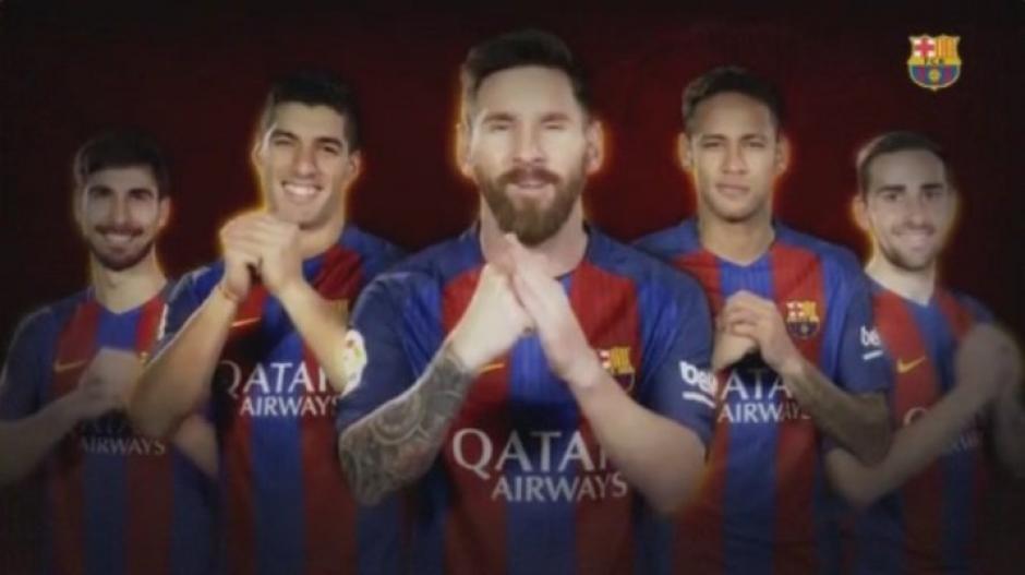 La plantilla de Barcelona envía saludo por Año Nuevo chino. (Foto: Twitter)