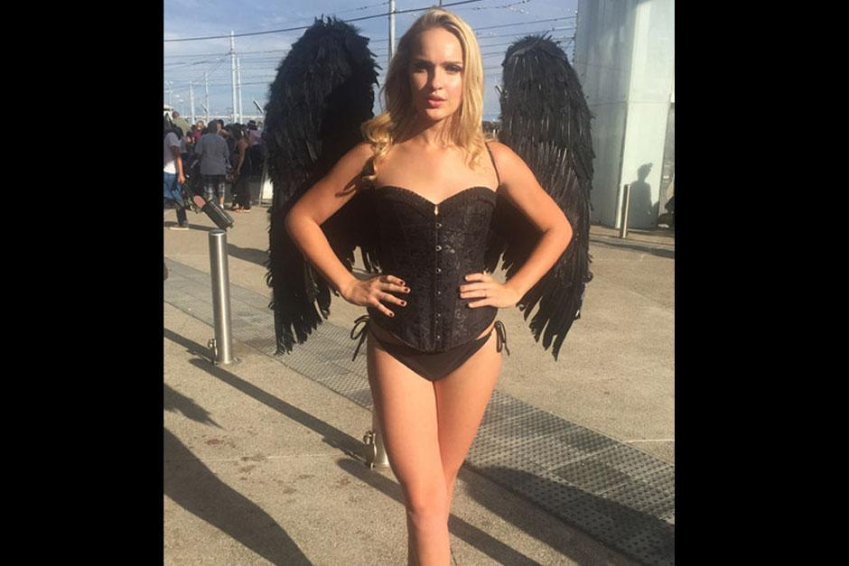 """Un """"ángel"""" bastante particular. (Foto: sopitas.com)"""