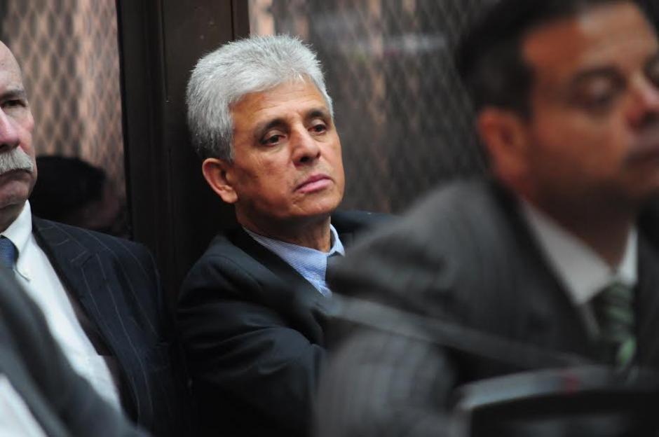 El exintendente de Fiscalización de la SAT, Ariel Guerra, durante la audiencia de primera declaración por el caso la Línea 2. (Foto: Alejandro Balán/ Soy502)