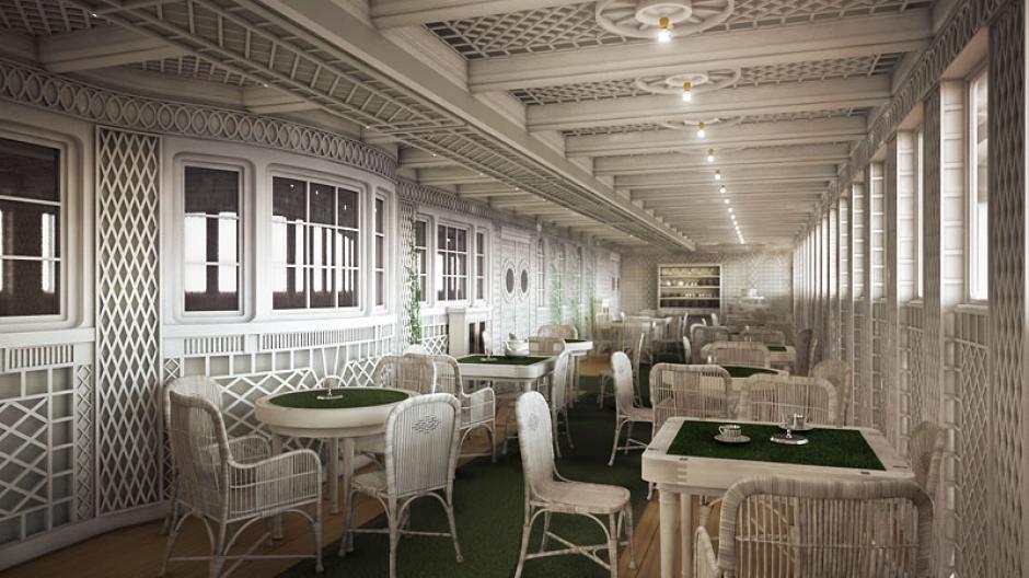 Este es el Café Parisino instalado en el Titanic II (Foto: titanic-ii.com)