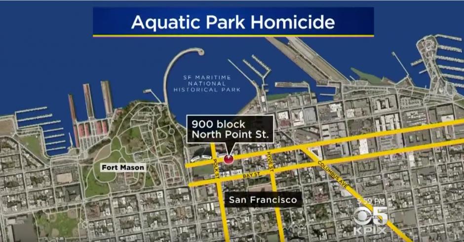 El hecho tuvo lugar en un parque acuático de San Francisco. (Captura de pantalla: CBS SF Bay Area/YouTube)