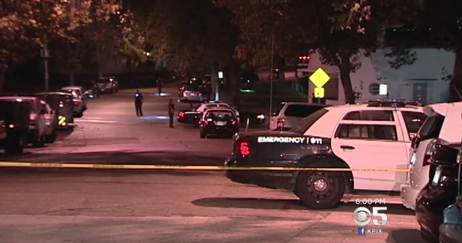 La policía acordonó el lugar del hecho. (Captura de pantalla: CBS SF Bay Area/YouTube)