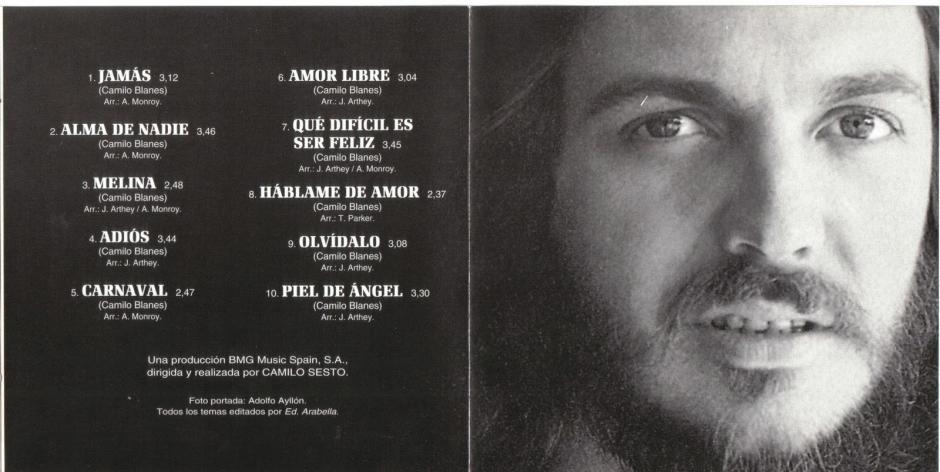 Uno de los discos que Camilo Sesto publicó hace algunas décadas.