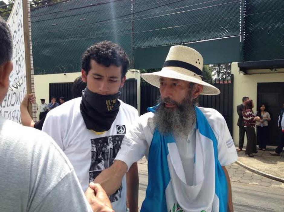 """Oswaldo Ochoa, """"El Caminante"""", llegó este miércoles a la ciudad capital para apoyar las labores de la CICIG. (Foto: Fredy Hernández/Soy502)"""