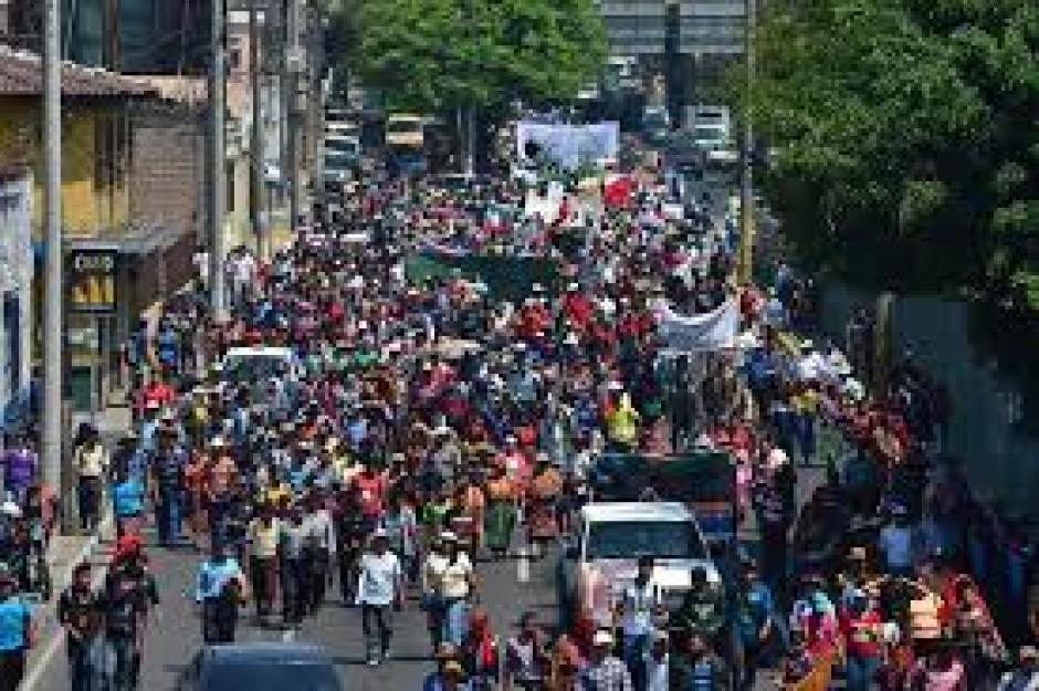 La movilización abarcó varios puntos de la capital. (Foto: Jesús Alfonso/Soy502)