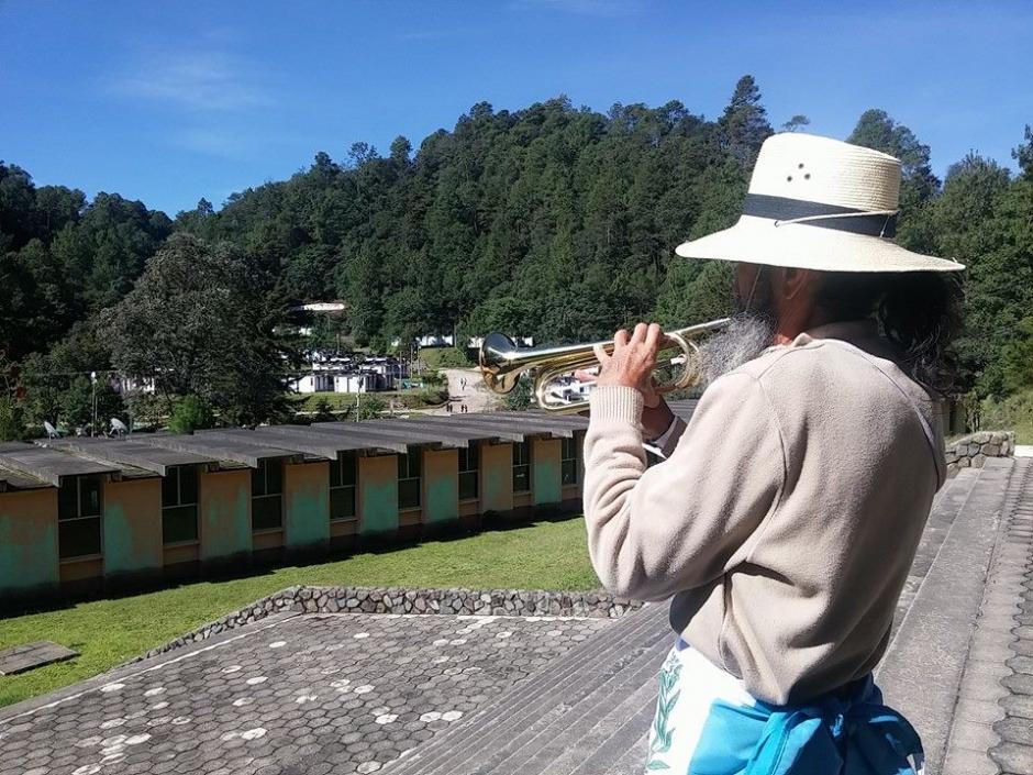 Oswaldo Ochoa llegó el 20 de junio a la capital guatemalteca tras recorrer 200 kilómetros. (Foto Facebook El Caminante por la Transformación)