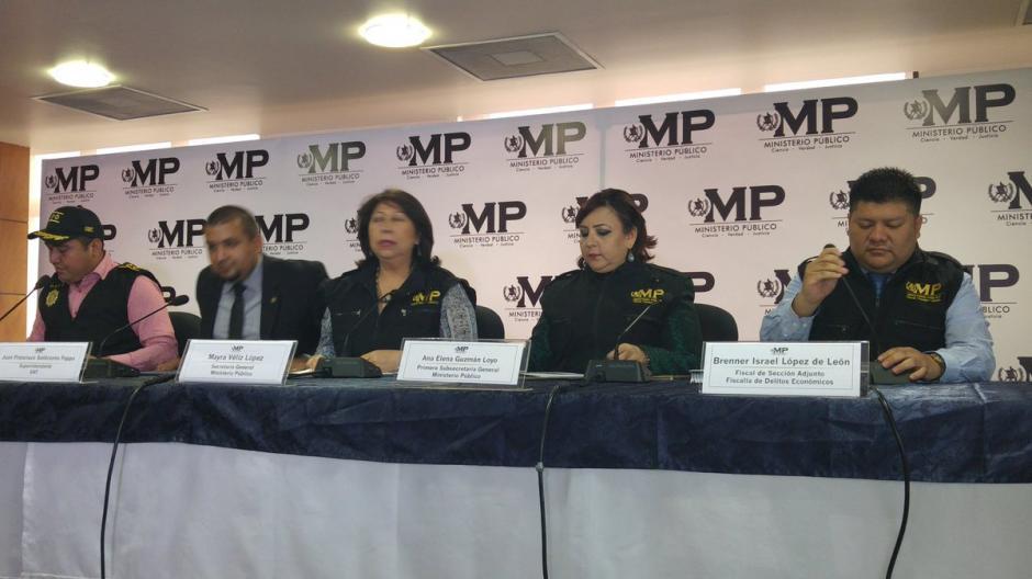 Las autoridades revelaron detalles de la investigación en este caso de defraudación tributaria. (Foto: @MPguatemala)