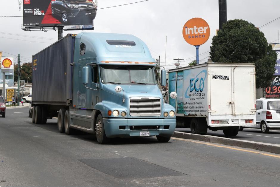 Los camiones tendrán otro horario para circular el próximo lunes. (Foto: Archivo/Soy502)