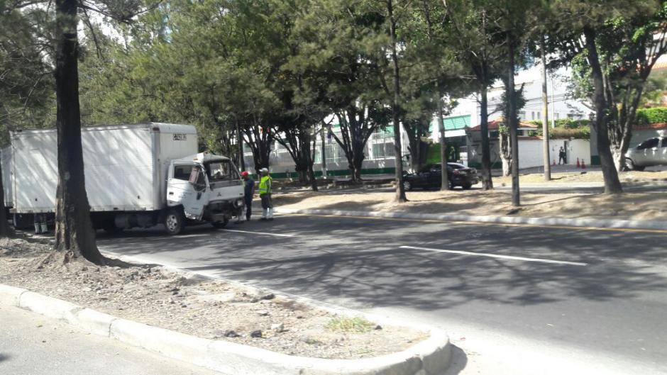 Se especula que el accidente fue por un intento de robo al camión. (Foto: Dalia Santos/Tránsito PNC)