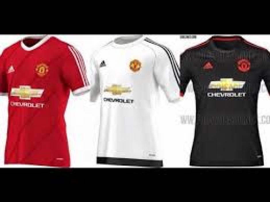 Estas son las camisetas de Manchester United usadas en la temporada 2015/2016. (Foto: Youtube)