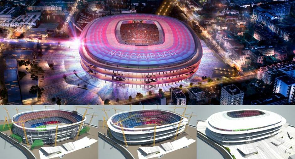 Así lucirá el atrio del nuevo Camp Nou. (Foto: Twitter FC Barcelona)