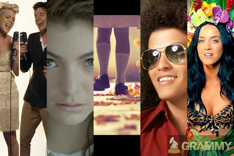 """Y los nominados a canción del año son:""""Just Give Me A Reason"""" - P!nk ft. Nate Ruess,""""Royals"""" - Lorde, """"Same Love"""" - Macklemore & Ryan Lewis,""""Locked Out Of Heaven"""" - Bruno Mars y """"Roar"""" - Katy Perry."""
