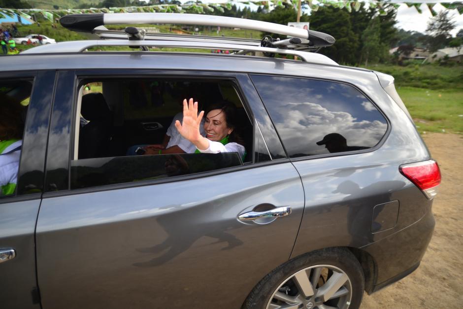 La candidata disputó una intensa lucha por el segundo lugar de la primera vuelta con Manuel Baldizón. Finalmente consiguió superarlo en votos. (Foto: Wilder López/Soy502)