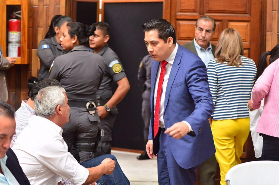 El abogado Alberto Guevara defiende a Mario Cano en el caso Cooptación del Estado. (Foto: Jesús Alfonso/Soy502)