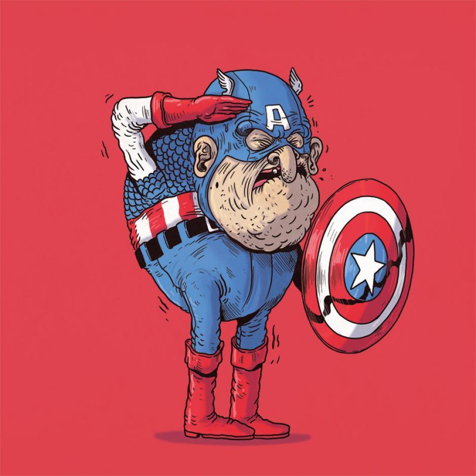 El Capitán América con pocos dientes pero con mucha actitud para hacerle frente a los villanos. (Foto: Alex Solis)