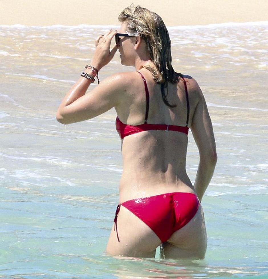 (María Sharapova en los Cayos en el estado de Baja California Sur en México. Foto: Daily Mail)