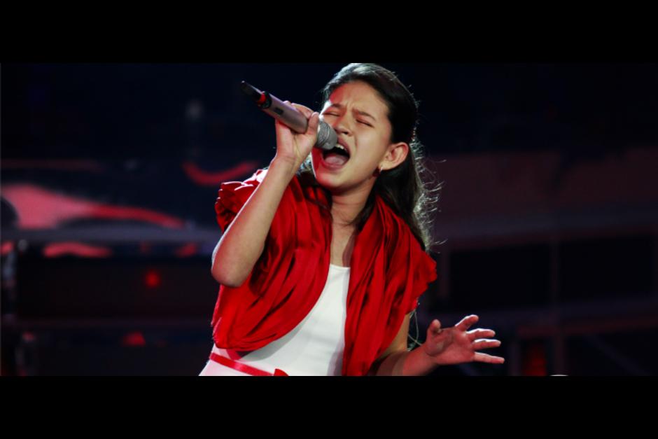 La guatemalteca se proclamó vencedora del concurso televisivo La Academia Kids. (Foto: Archivo)