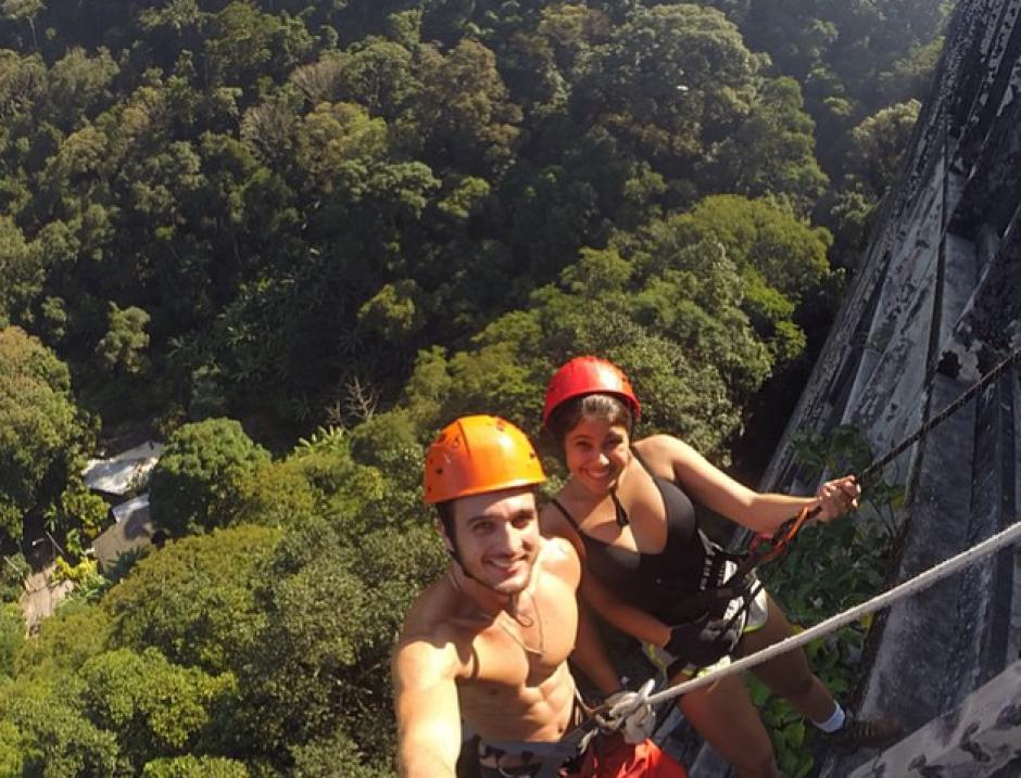 Cualquier momento es bueno para tomarse una foto, piensan estos brasileños. (Foto: Instagram)