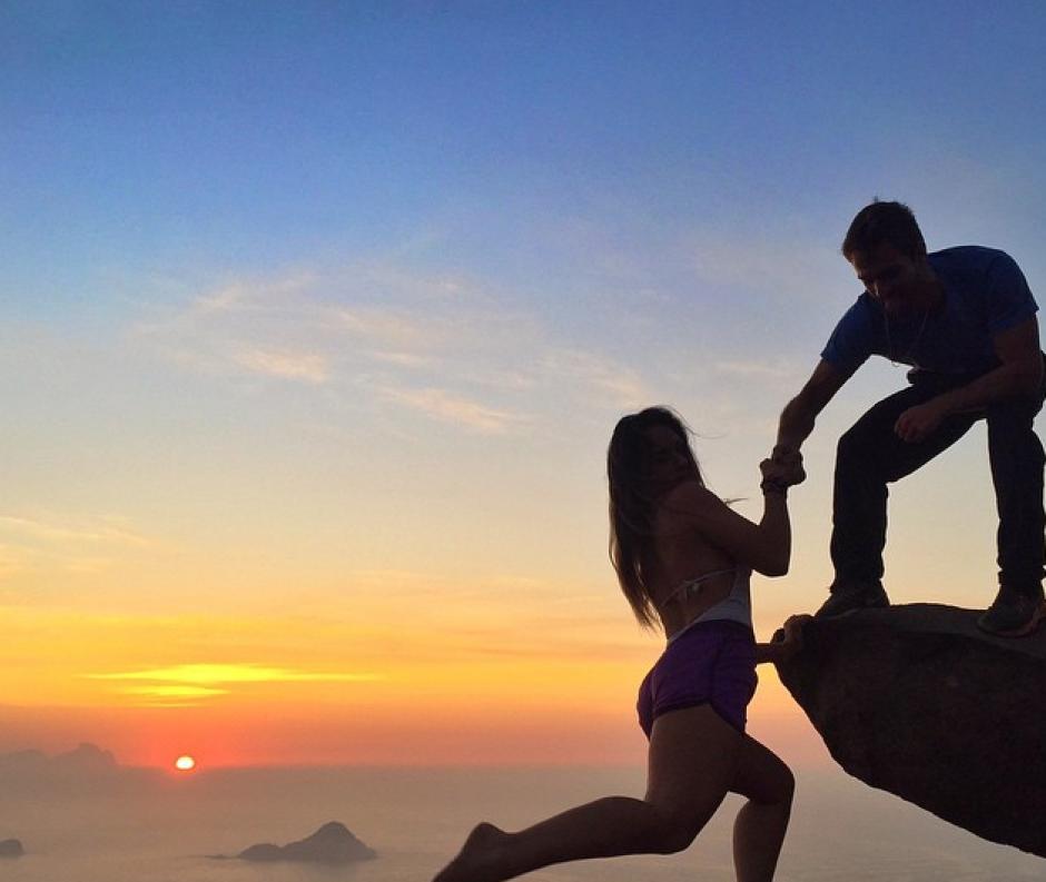 La pareja casualmente se conoció escalando en Río de Janeiro. (Foto: Instagram)