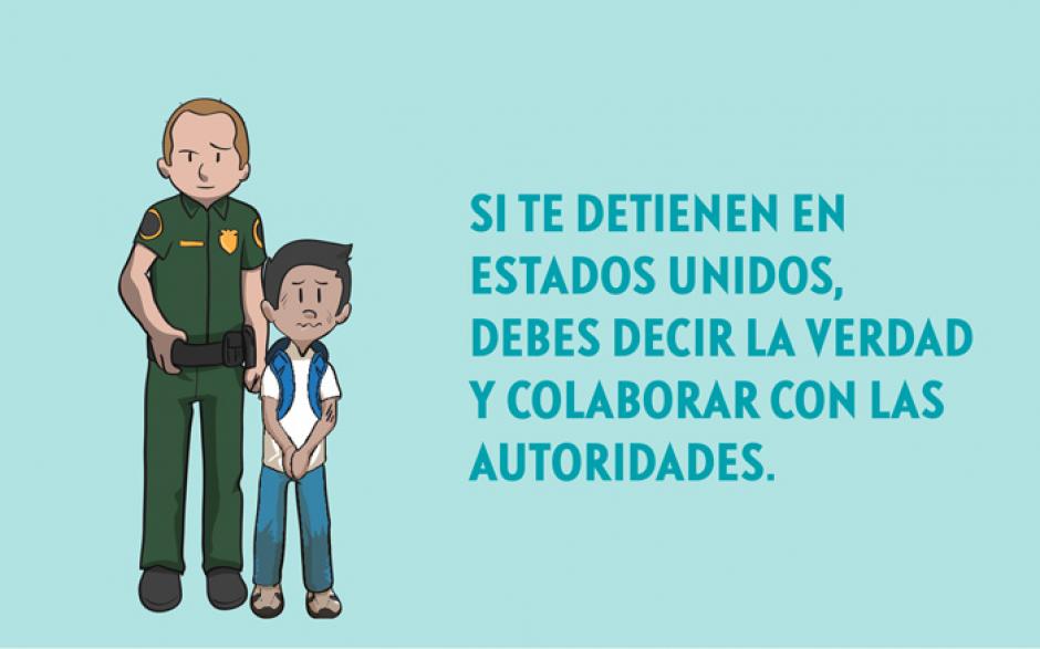 La campaña ofrece consejos para garantizar la seguridad de los migrantes aún al ser detenidos. (Imagen Minex)