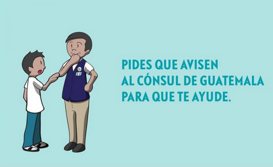 Como parte de la campaña se entregará una guía a los consulados guatemaltecos para el trato hacia los migrantes. (Imagen Minex)