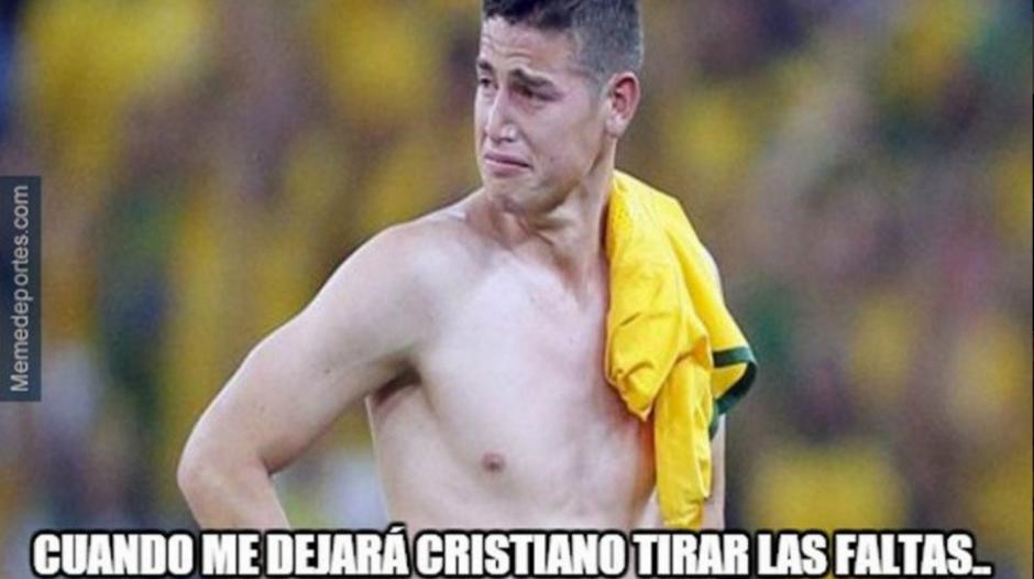 El colombiano, James Rodríguez, también salió al baile de los memes.