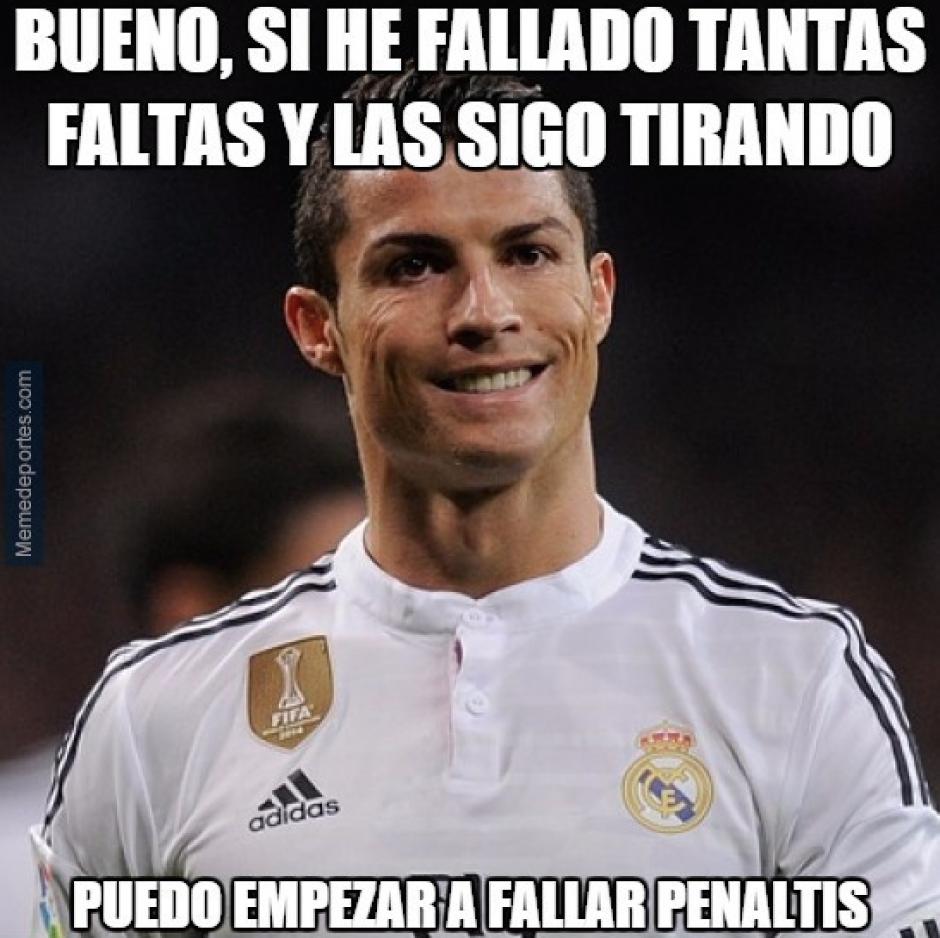 Otros memes se enfocaron en que casi todas las jugadas de balón detenido del Madrid las ejecuta Ronaldo.