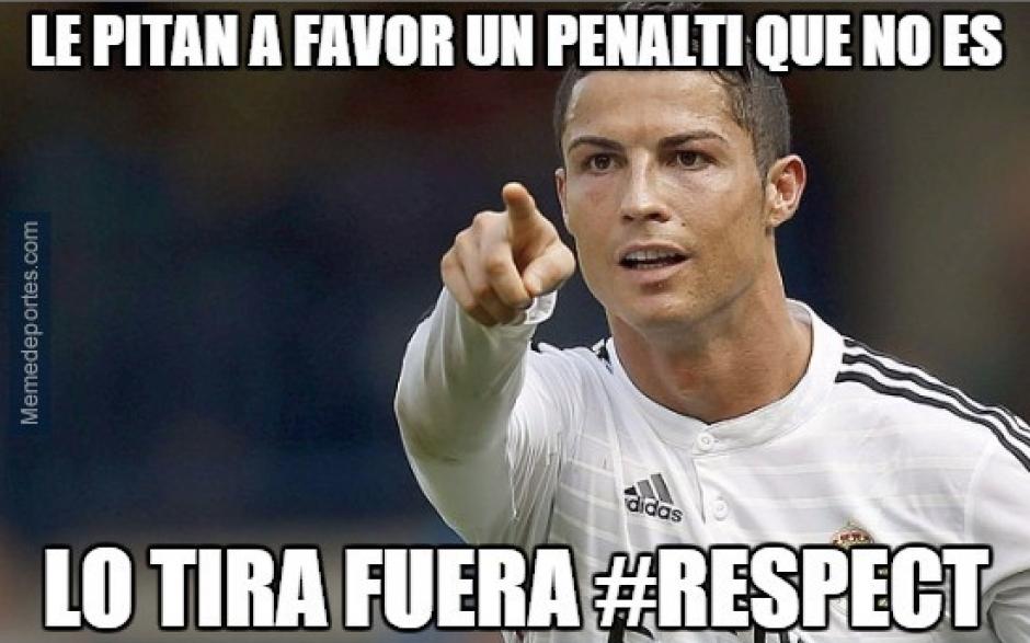 Esta imagen muestra con ironía el penal fallado por Cristiano Ronaldo.