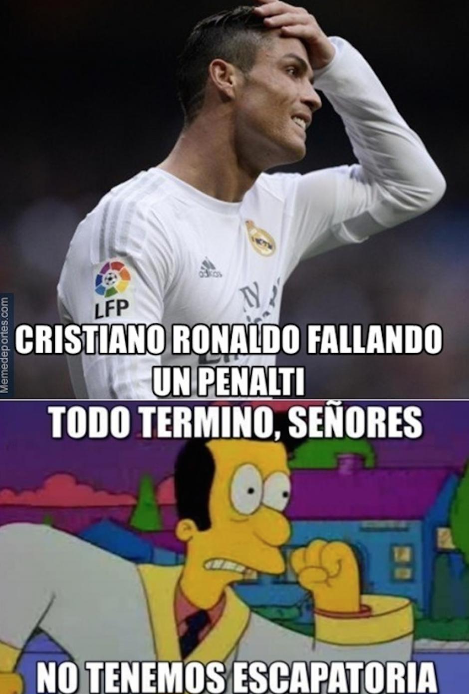 Es el primer penal que falla Cristiano Ronaldo en la Liga española, de sus 55 remates.