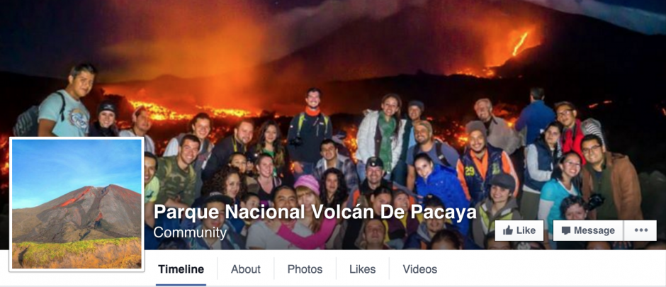 La historia de la feliz pareja fue compartida por la página de la red social Facebook PN Volcán de Pacaya. (Foto: Facebook/ PN Volcán de Pacaya)