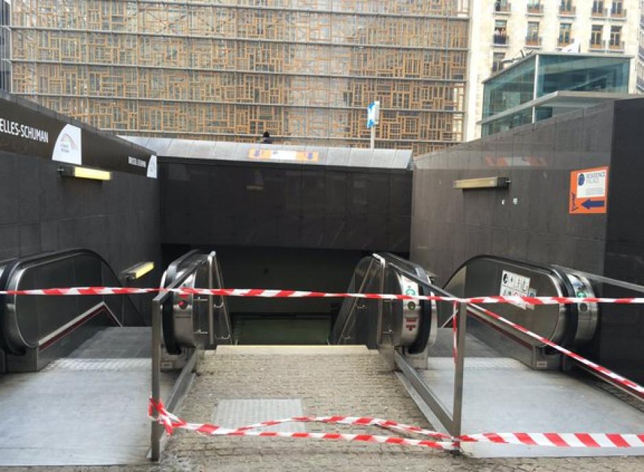 El metro cerró en Bruselas luego de los ataques. (Foto: Conflict News/Twitter)