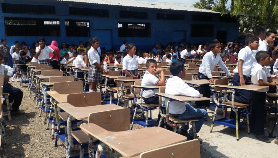 Los alumnos ya utilizaron la donación. (Foto: Gobierno)
