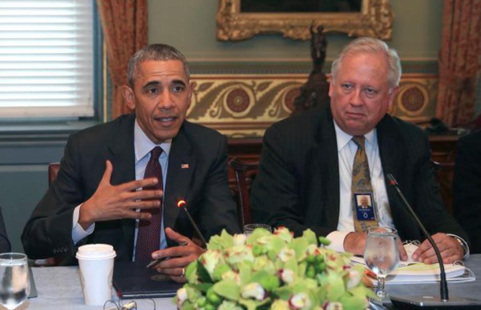 El presidente se presentó en una reunión que estaba programada con el vicepresidente Biden. (Foto: Gobierno Honduras)