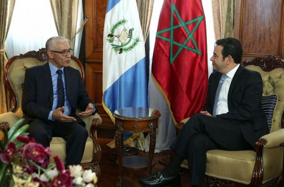 El presidente del legislativo marroquí visitó al presidente Jimmy Morales. (Foto: AGN)