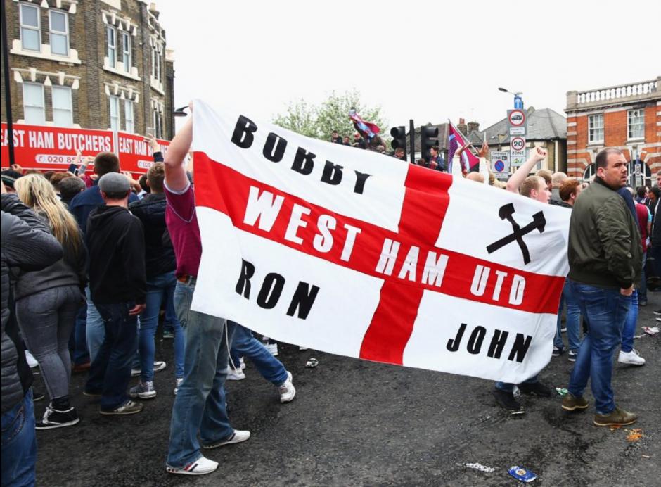 Una de las aficiones más radicales de Inglaterra es la del West Ham. (Foto: Twitter)