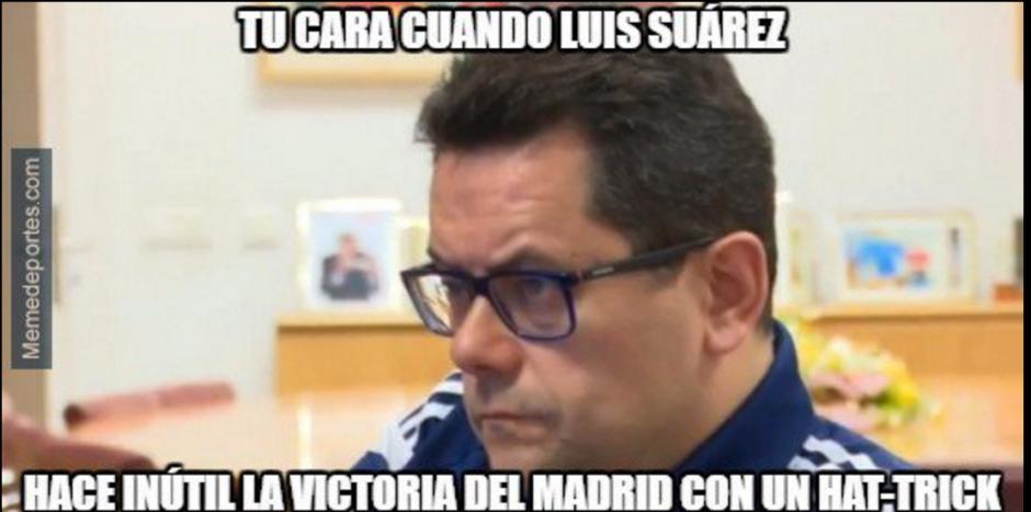 El rostro lo dice todo. El Madrid aún tuvo opciones en la última jornada. (Foto: Twitter)