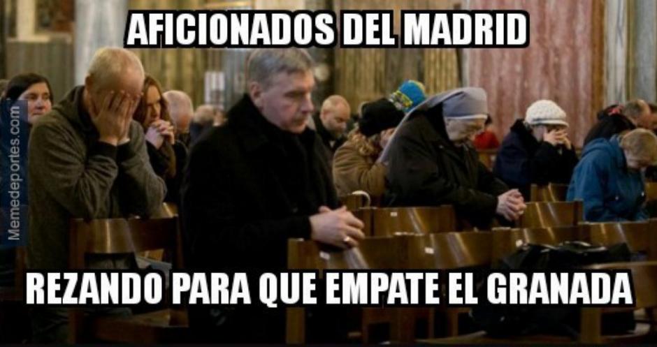 "Real Madrid esperó hasta último momento un ""milagro"" del Granada. (Foto: Twitter)"