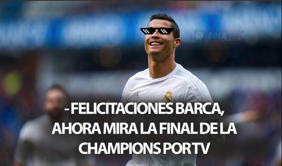 La respuesta de los seguidores de Real Madrid y la final de la Champions League, que está pendiente. (Foto: Twitter)