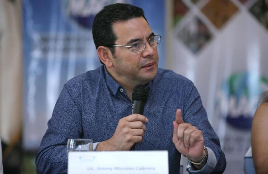 Jimmy Morales defendió el antejuicio para proteger a todos los que tienen función de Estado. (Foto: AGN)