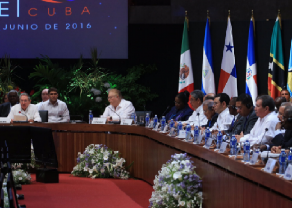 El mandatario participó en la Cumbre del Caribe de Jefes de Estado. (Foto: Minex)