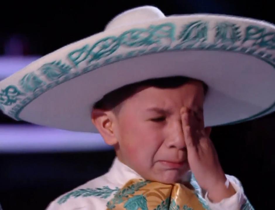 Jossué Girón no pudo mantener las lágrimas. (Foto: Telemundo)