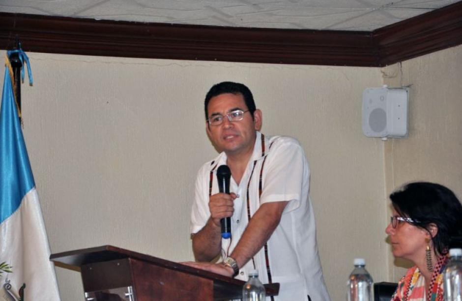 Jimmy Morales participó en la mesa de Zacapa. (Foto: Reforma Justicia)