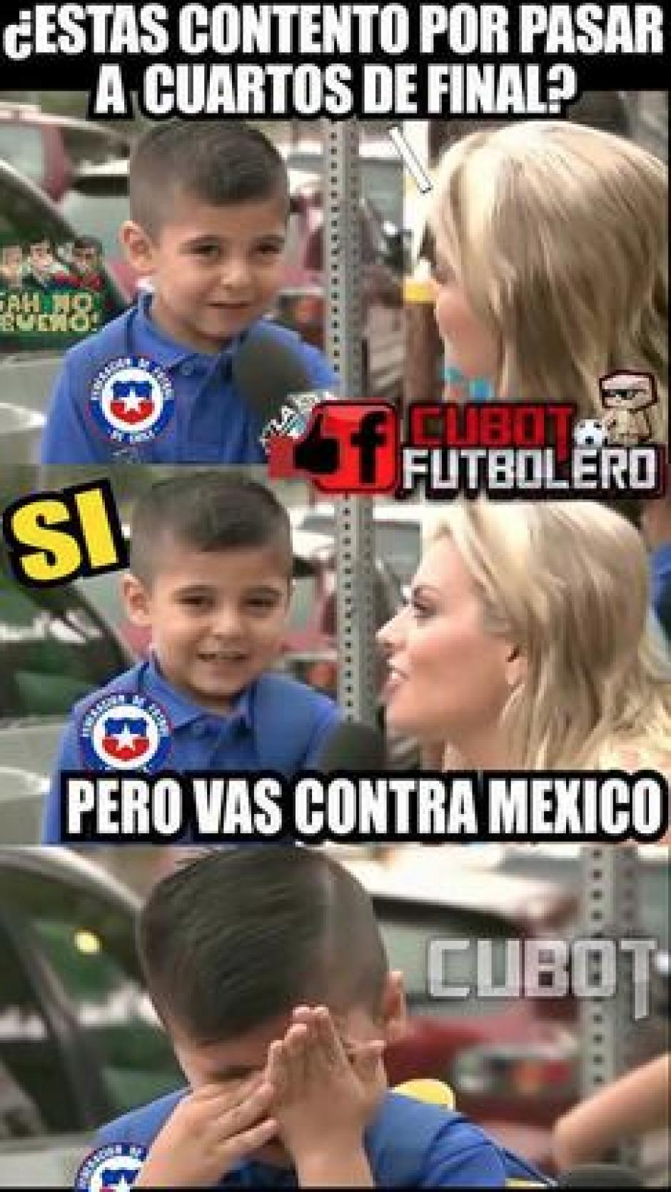 México espera con mucha confianza a Chile en los cuartos de final. (Foto: Twitter)