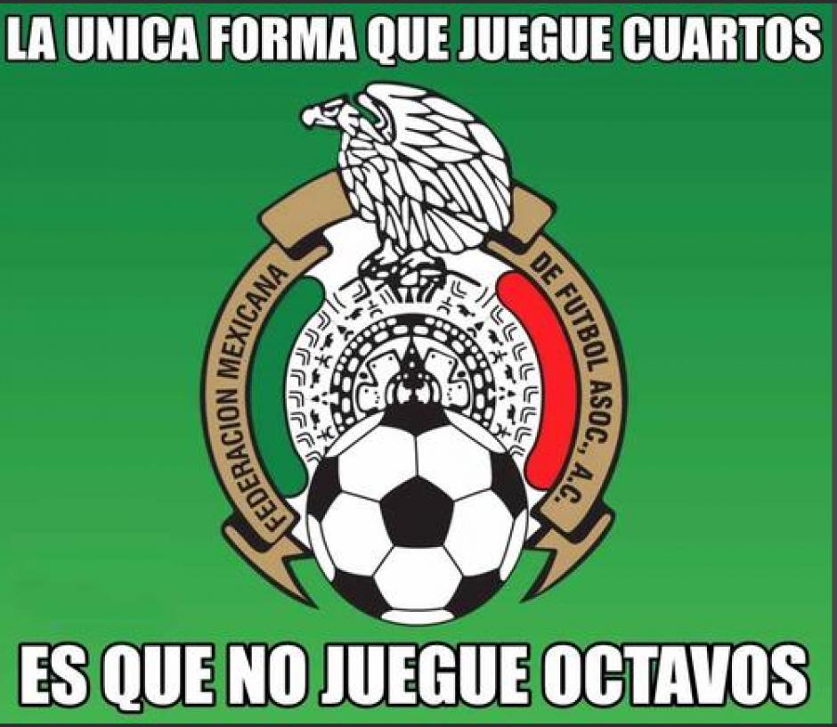 La parodia de México, que no llega a cuartos de final en los Mundiales, esta vez sí, pero... (Foto: Twitter)