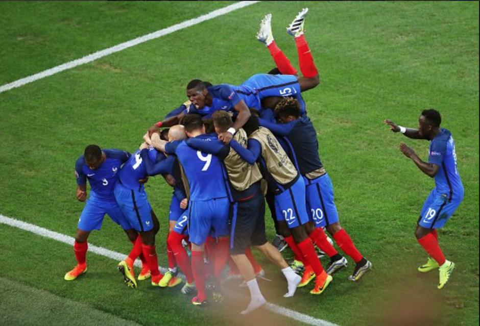 Francia celebró su segundo triunfo en la Eurocopa 2016, esta vez ante Albania. (Foto: AFP)