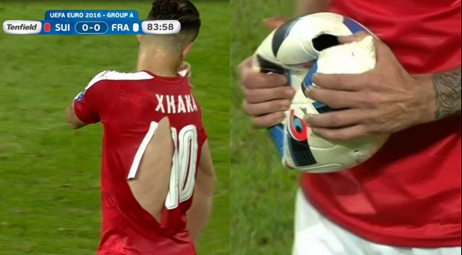 Imágenes curiosas dejó el empate entre Francia y Suiza. (Foto: Twitter)