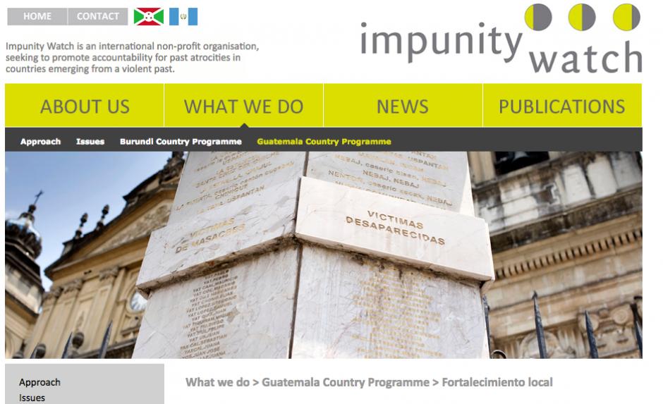 Impunity Watch se encarga de monitorear y acompañar casos del conflicto armado. (Foto: Impunity Watch)