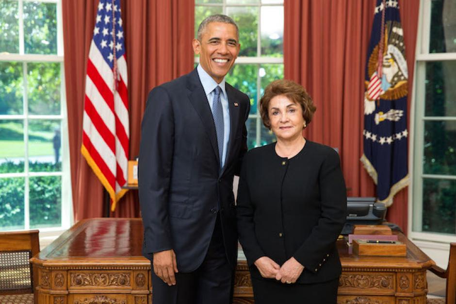 Obama recibió a la diplomática en el despacho oval. (Foto: Minex)