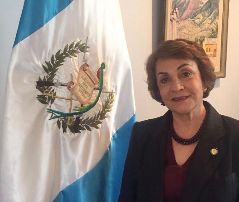 Ruiz de Vielman fue nombrada por Jimmy Morales como la nueva embajadora de Guatemala ante EE.UU. (Foto: Minex)